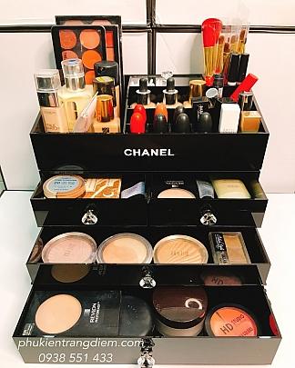 Khay Kệ Trang Điểm Chanel 4 Tầng