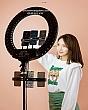 [Size 54CM] Đèn Livestream Bán Hàng Trợ Sáng Size Lớn Nhất