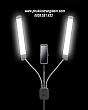 Đèn Spa - Livestream - Phun Xăm - Nối Mi - Trang Điểm DOUBLE ARM LED 1