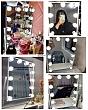 [Cao 36cm - 7 LED] Gương Trang Điểm Đèn LED Cảm Ứng Để Bàn 3