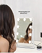 [Cao 36cm - 7 LED] Gương Trang Điểm Đèn LED Cảm Ứng Để Bàn 1