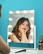 [Cao 46cm - 12 LED] Gương Trang Điểm Đèn LED Cảm Ứng Để Bàn 2