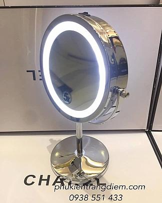 Gương Trang Điểm Phóng To Có Đèn Led - Size Trung