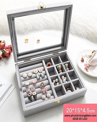 Hộp Đựng Trang Sức Mini Nhẫn - Bông Tai