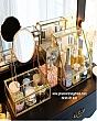 Bộ Kệ Trang Điểm Có Nắp Viền Vàng Luxury 5