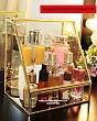Khay Trang Điểm Có Nắp Viền Vàng Luxury