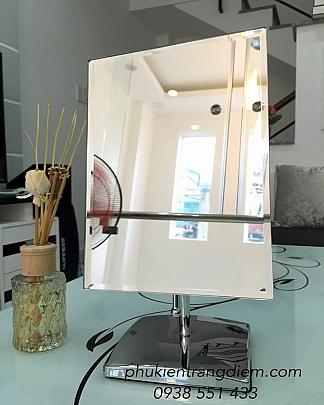 Gương Trang Điểm Để Bàn Inox Vuông