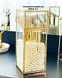 Hộp Đựng Cọ Ngọc Trai Chống Bụi Viền Vàng Golden 4