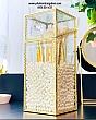 Hộp Đựng Cọ Ngọc Trai Chống Bụi Viền Vàng Golden 5