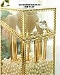 Hộp Đựng Cọ Ngọc Trai Chống Bụi Viền Vàng Golden 2
