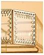 Khay Kệ Trang Điểm Xoay Golden Viền Vàng - Lục Giác 4