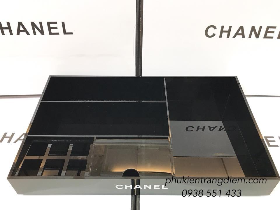 khay đựng mỹ phẩm trang điểm chanel size lớn nhiều ngăn giá rẻ