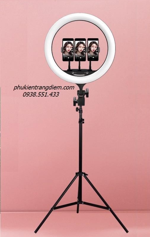 cây đèn trợ sáng livestream bán hàng, giá đỡ điện thoại gậy livestream