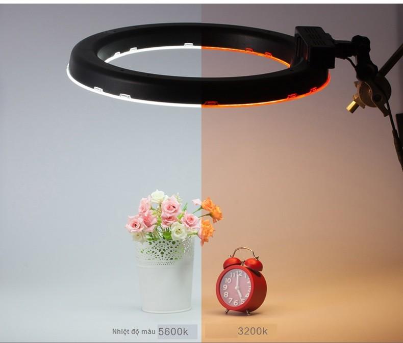 Trọn bộ đèn trang điểm make up quay phim led ring RL-18 cao cấp giá rẻ