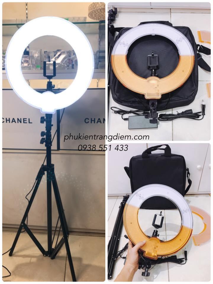 Trọn bộ đèn trang điểm make up quay phim led ring RL-12 cao cấp giá rẻ