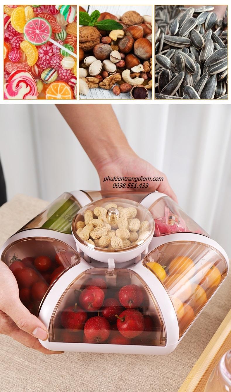 hộp khay đựng bánh mứt tết 2021 đẹp, sang trọng, mở nắp tự động