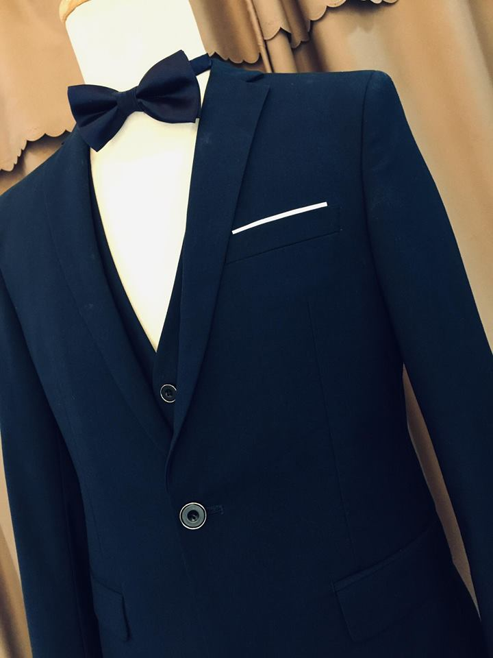 Vest cưới xanh dương đậm