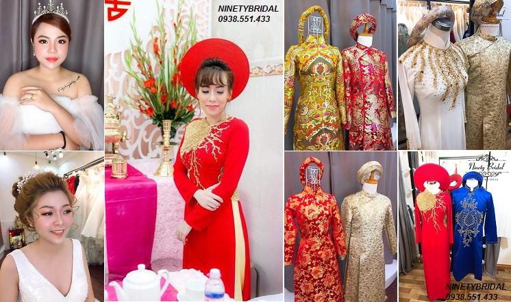 cho thuê áo dài cưới cô dâu, áo dài chú rễ đẹp giá rẻ tại tphcm