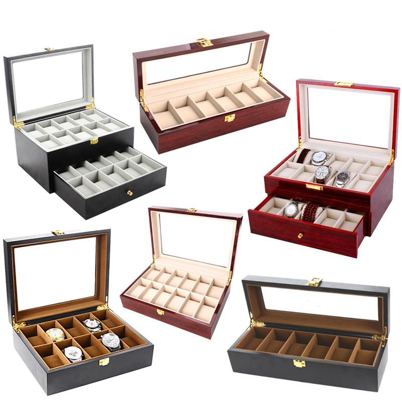 bán hộp đựng đồng hồ bằng gỗ nhiều ngăn