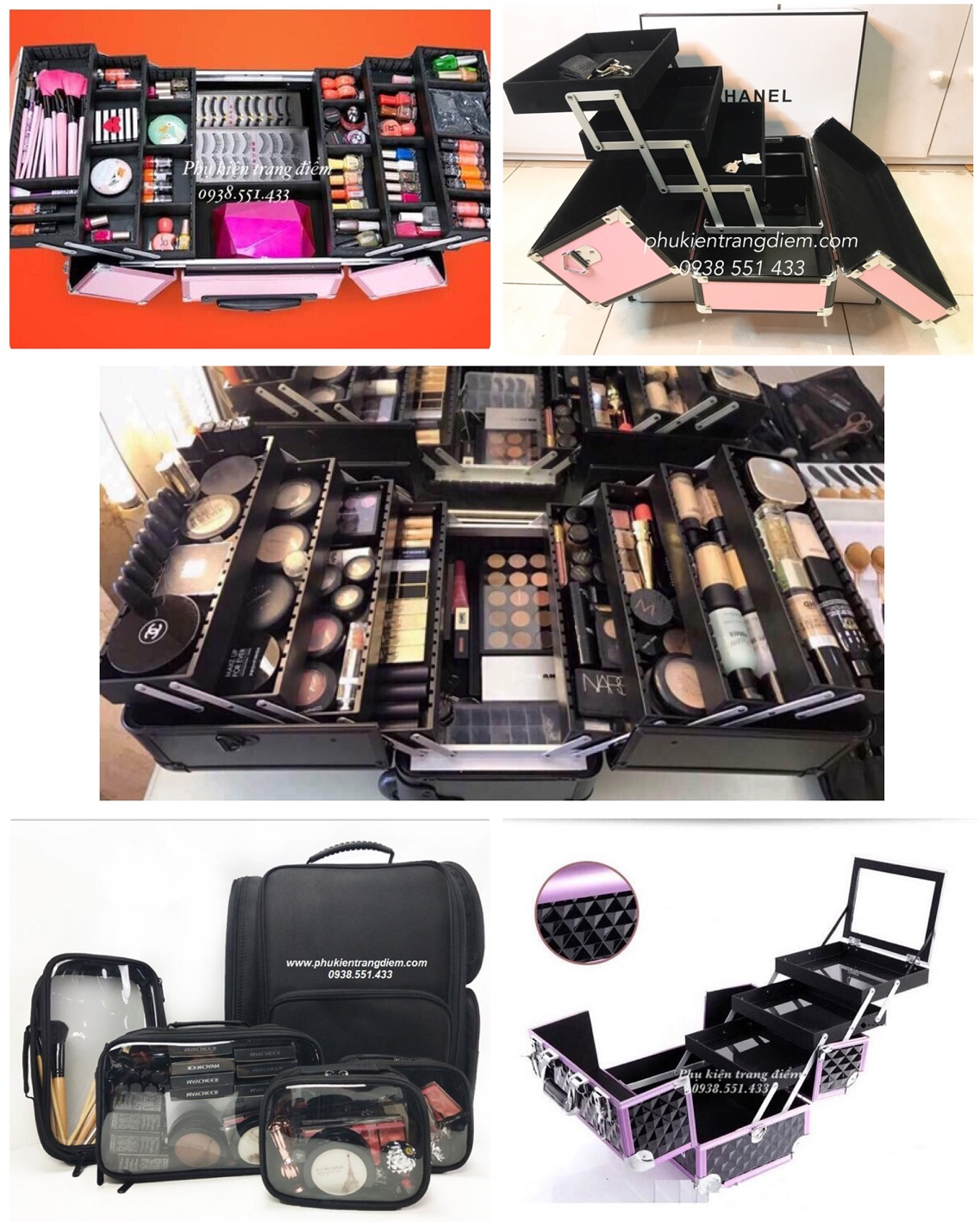 vali make up - thùng cốp trang điểm có bánh xe kéo