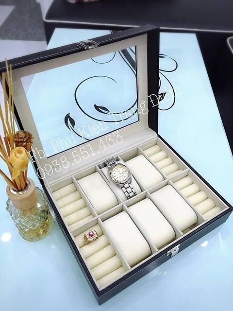 Hộp đựng đồng hồ + nhẫn siêu đẹp và tiện lợi