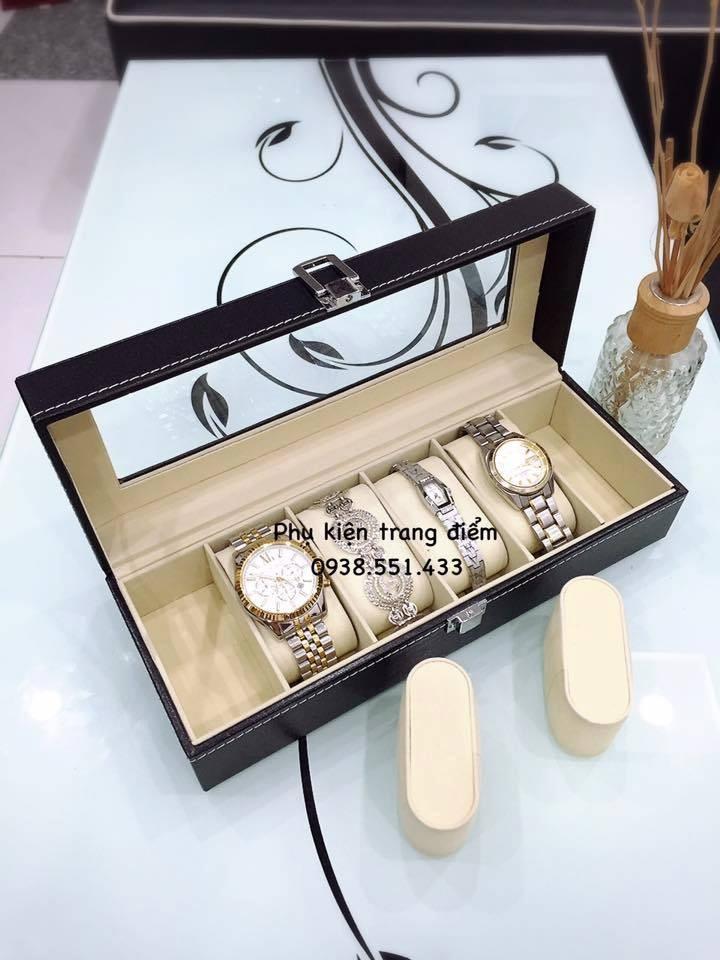 Hộp đồng hồ bằng da đựng 6 cái đồng hồ