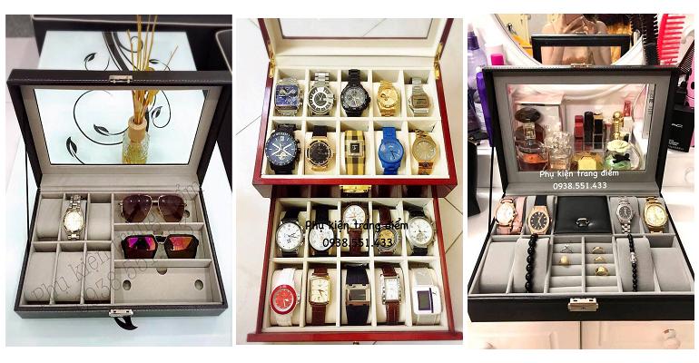 bán hộp đựng đồng hồ bằng da - bằng gỗ
