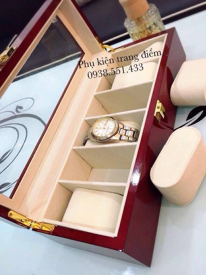 hộp đựng đồng hồ bằng gỗ đẹp cao cấp giá rẻ ở tphcm