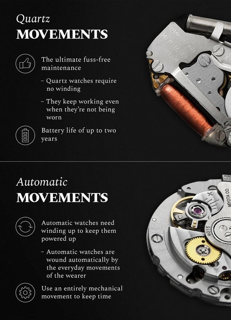 phân biệt và lựa chọn đồng hồ đeo tay cơ tự động