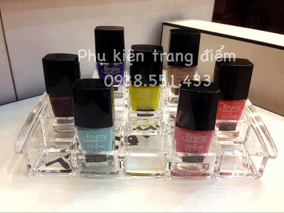 Khay đựng son to, nước sơn móng tay nhiều mẫu đẹp tại phukientrangdiem.com