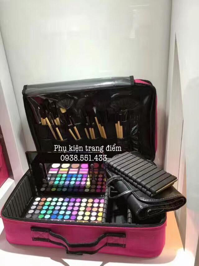 Cặp hồng đựng đồ make-up đẹp bằng vải bền