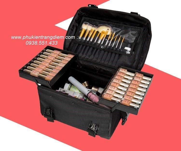 bán cốp vali trang điểm chuyên nghiệp size lớn bằng vải bố đôi tphcm