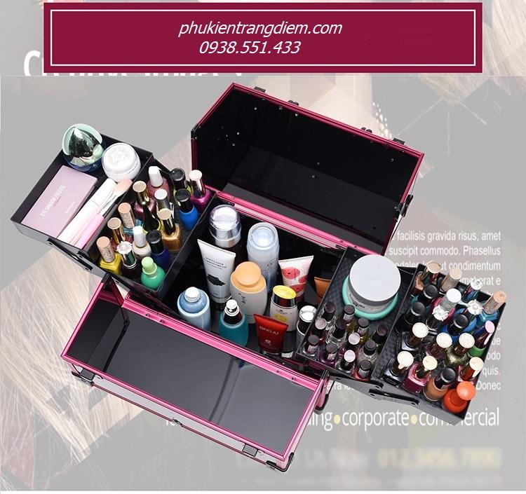 cốp thùng đựng đồ nghề make up làm nail phun xăm nối mi chuyên nghiệp sang trọng