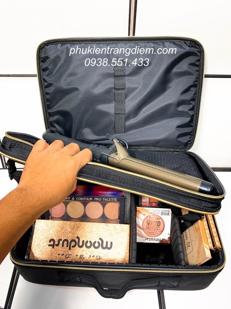 cốp thùng vali make up chuyên nghiệp đẹp có dây đeo