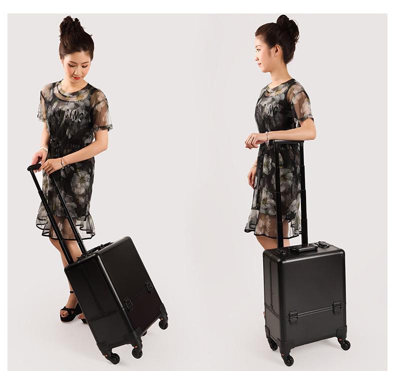 cốp thùng vali kéo trang điểm chuyên nghiệp
