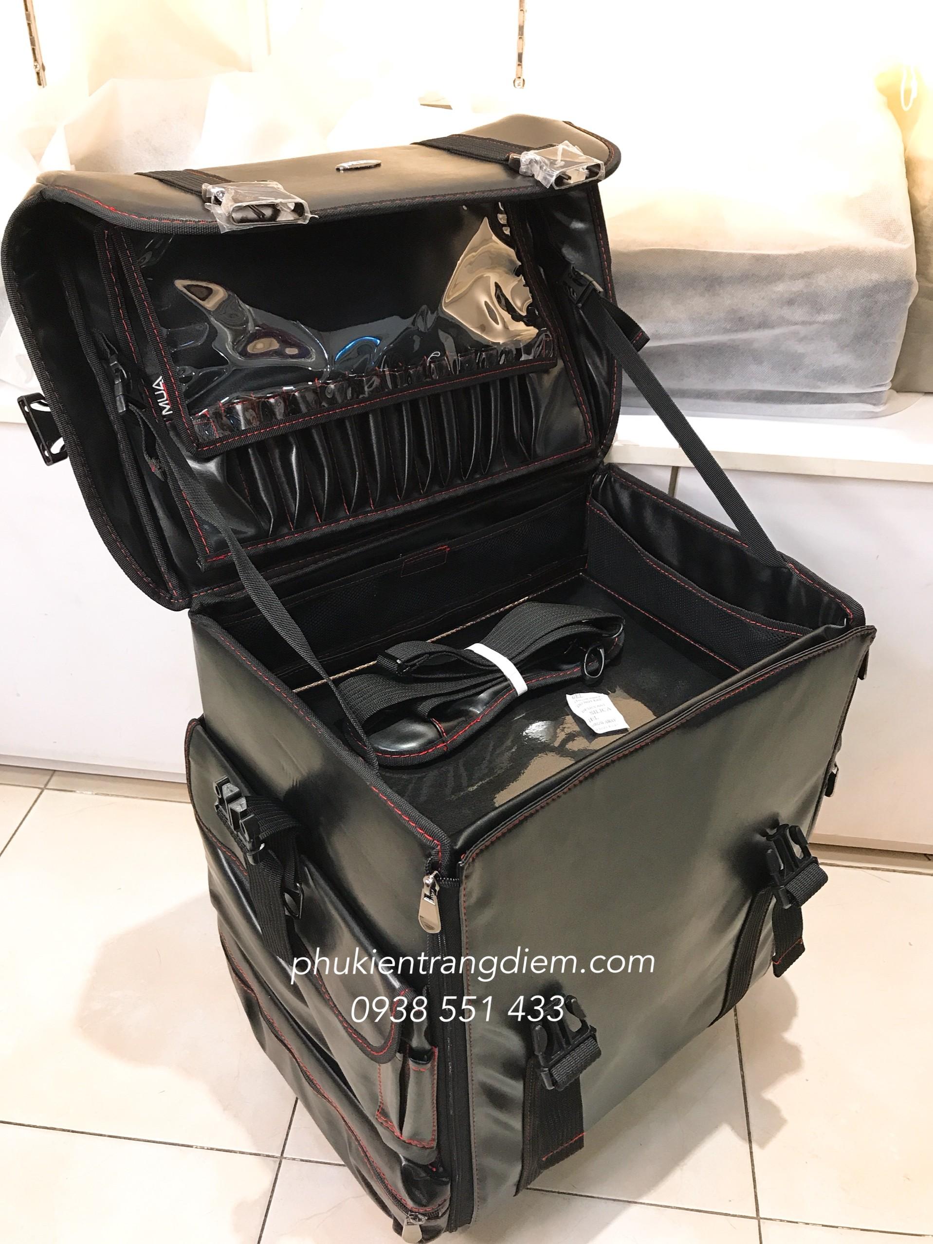 thùng cốp make up chuyên nghiệp bằng vải nhiều ngăn kéo
