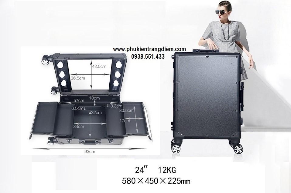cốp vali trang điểm có đèn có chân cao cấp giá rẻ tphcm