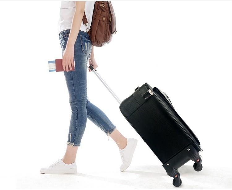 cốp trang điểm bằng vải vali kéo chuyên nghiệp chống nước
