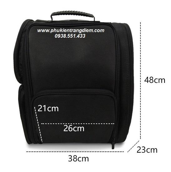 cốp vali trang điểm kéo 6 túi trong suốt cao cấp