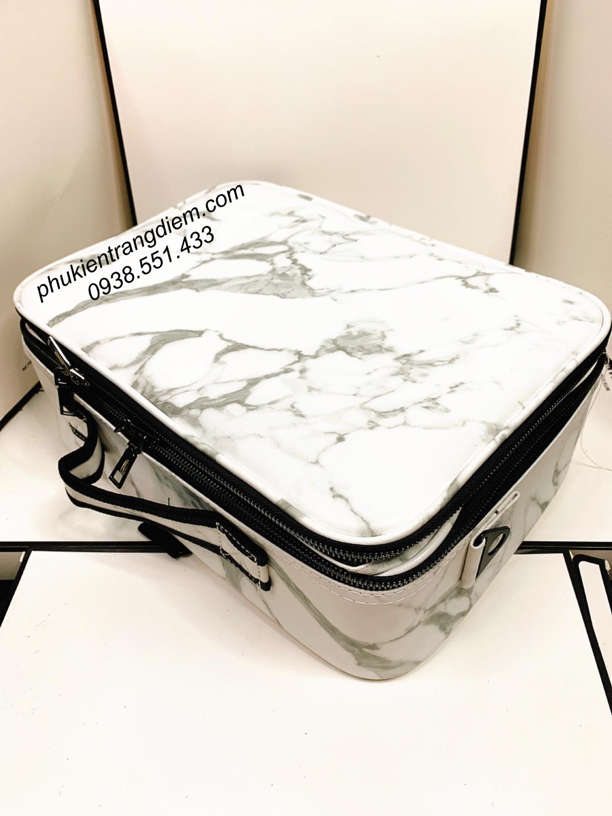 cốp túi vali xách tay trang điểm có dây đeo