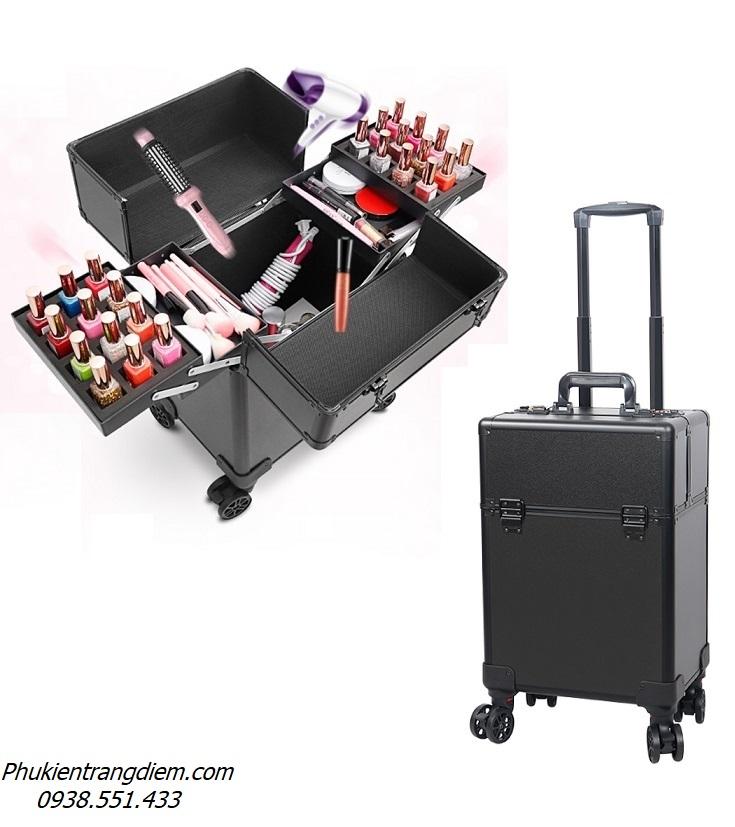 thùng cốp kéo đựng đồ nghề làm tóc, làm nail, trang điểm, phun xăm chuyên nghiệp
