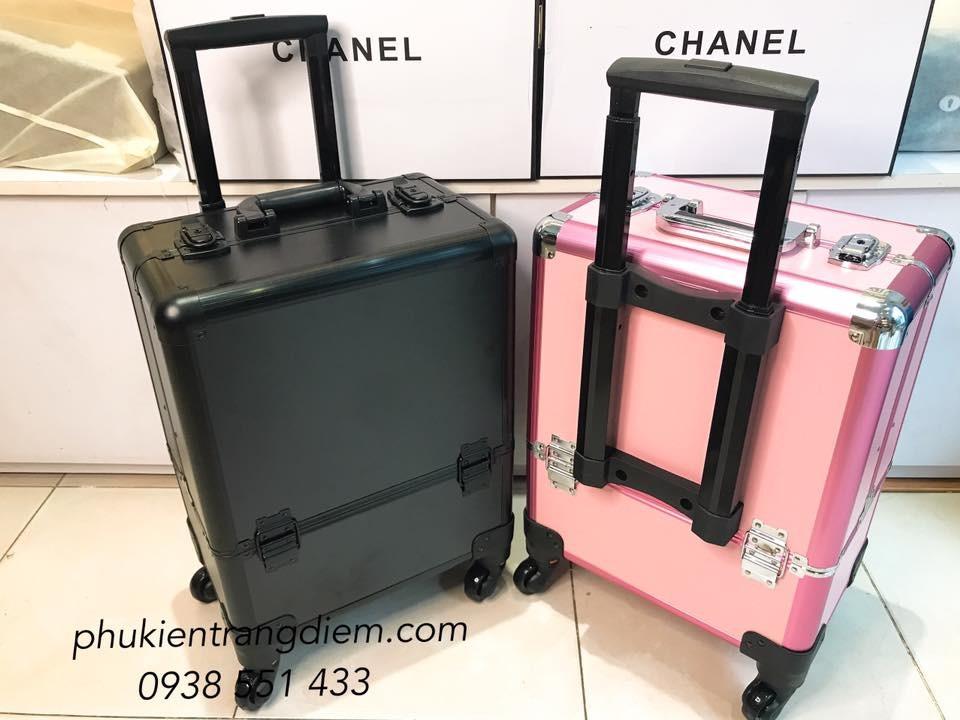 cốp thùng vali kéo trang điểm chuyên nghiệp nhiều ngăn