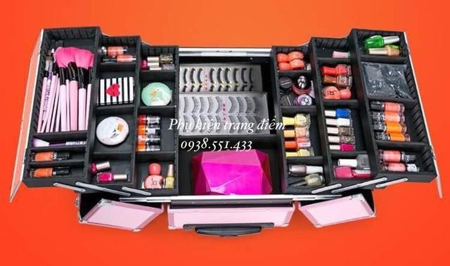 Cốp thùng trang điểm vali kéo chuyên nghiệp