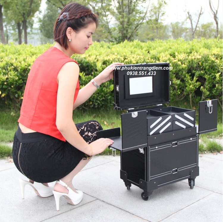 vali kéo thùng cốp trang điểm chuyên nghiệp