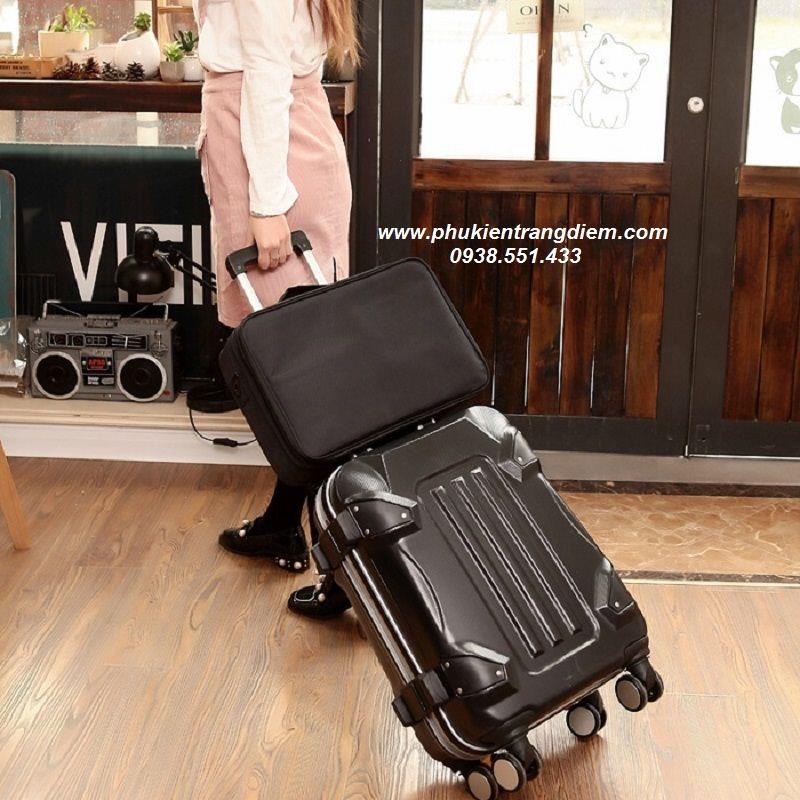 vali trang điểm vải kiểu balô size lớn nhất