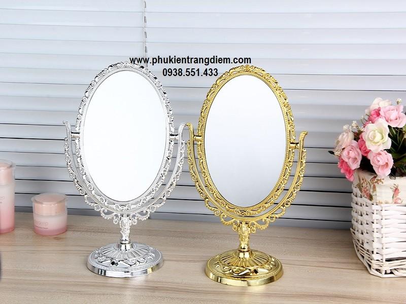 gương trang điểm công chúa hoa văn luxury