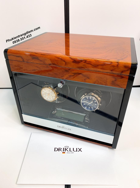 hộp đựng đồng hồ cơ 2 ngăn xoay Driklux chính hãng cao cấp