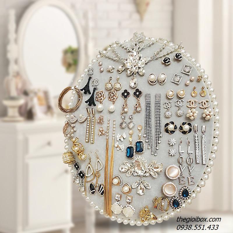 giá kệ nhung treo móc bông tai khuyên tai trang sức đẹp