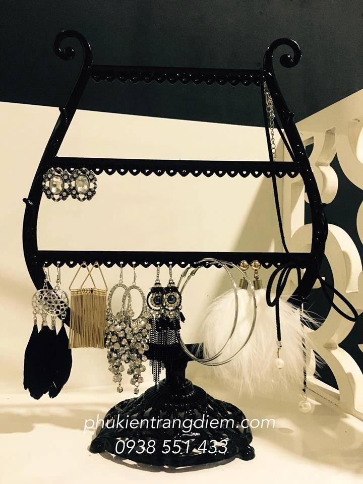 giá kệ treo bông tai trang sức bằng kim loại cao cấp