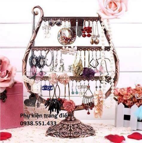 giá kệ treo bông tai trang sức kiểu khung đàn giá rẻ hcm